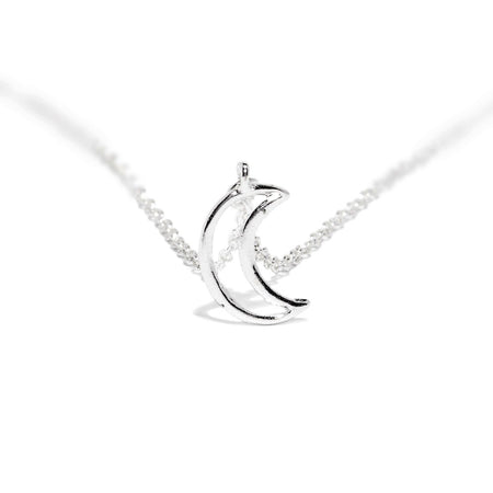 Moon Crescent Lunar Eclipse Pendant and Necklace - London - Dr Faust