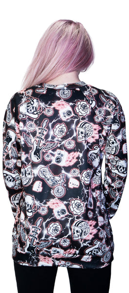 Motorcycle Print Soft Sweatshirt - Averi - Dr Faust