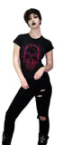 Neon Veins Red Skull Black T-Shirt - Veda - Dr Faust