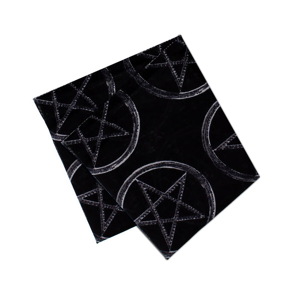 Pentagram Wicca Black Cotton Bandana - Lauren - Dr Faust