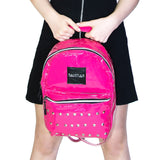 Pink Patent Vegan Leather Backpack - Shining - Dr Faust