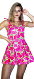 Pink Watermelon 3D Summer Mini Dress - Esperanza - Dr Faust