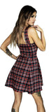 Punk Tartan Mini Dress - Evangeline - Dr Faust