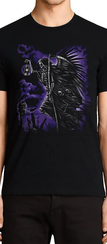Grim Reaper with Lantern Black T-Shirt - Zayden - Dr Faust