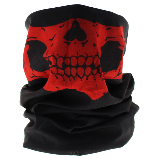 Red Skull Outlaw Jaw Face Mask Covering - Jason - Dr Faust