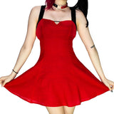 Red Mini Dress - Quinzel - Dr Faust