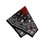 Roses and Skulls Black Cotton Bandana - Jean - Dr Faust