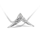 Severed Angel Wings Silver Pendant and Necklace - Valeria - Dr Faust