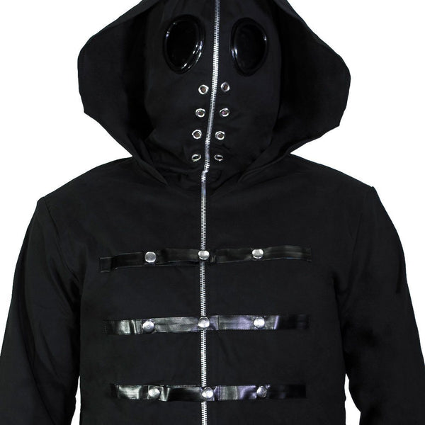 Metal Caps Black Goggles Short Cotton Jacket - Berthold - Dr Faust