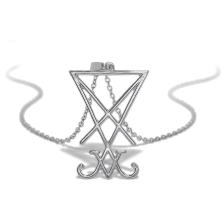 Sigil of Lucifer Grimoire Pendant and Necklace - Cecilia - Dr Faust