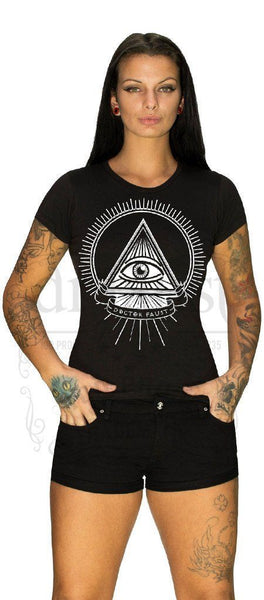 Illuminati Eye Faust T-Shirt - Nicki - Dr Faust