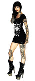 Sitting Baphomet Black Mini Dress - Monserrat - Dr Faust