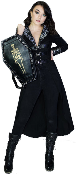 Skellington Vegan Leather Coffin Backpack - Jack