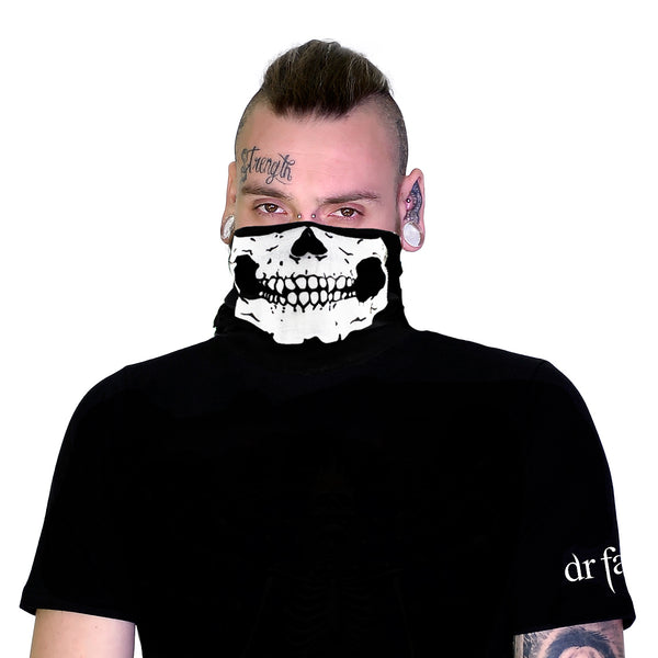 Skull Outlaw Jaw Face Mask Covering - Jason