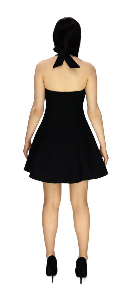 Smart Checked Black Mini Dress - Carmen - Dr Faust