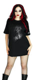 Smoke Skull Black T-Shirt - Cali - Women T-Shirt