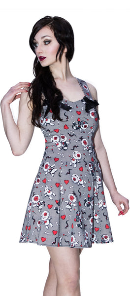 Snakes, Hearts and Voodoo Dolls Mini Dress - Ada - Dr Faust