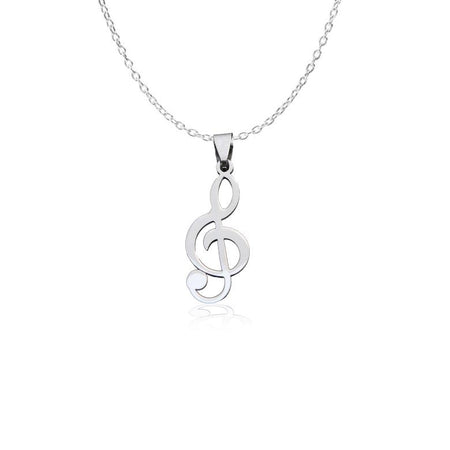 Sol Key Musical Note Pendant and Necklace - Kamila - Dr Faust