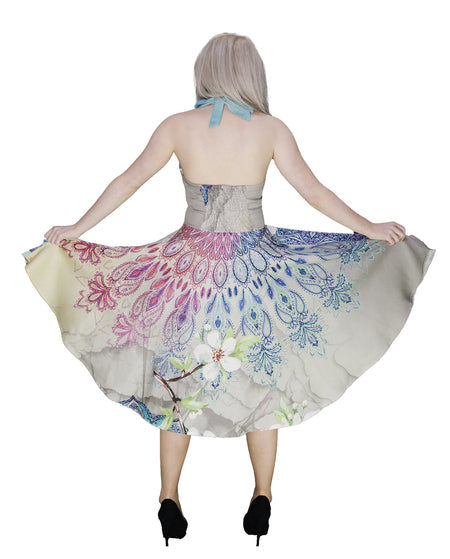 Songbird Henna Pastel Midi Dress - Helice - Dr Faust