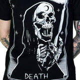 Tarot Card Laughing Death Black T-Shirt - Morte