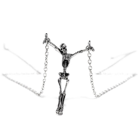 The Crucified Skeleton Pendant and Necklace - Skyla - Dr Faust