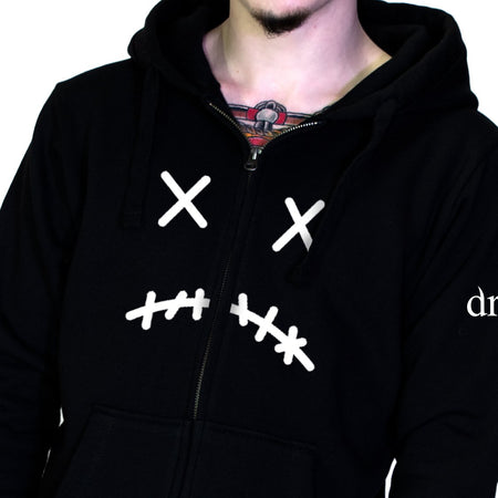 The Sad Man Thick Men's Black Hoodie - Gerald - Dr Faust