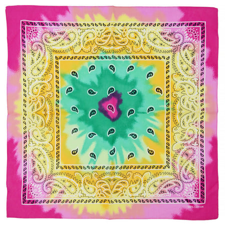 Tie Dye Rainbow Cotton Bandana - Everard - Dr Faust