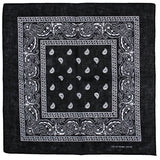 White Design Black Cotton Bandana - Everard - Dr Faust