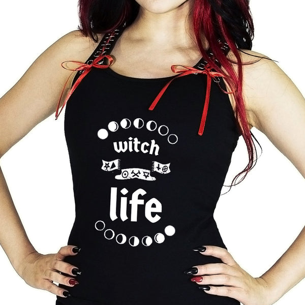 Witch Life Women's Black Vest - Sarai - Dr Faust