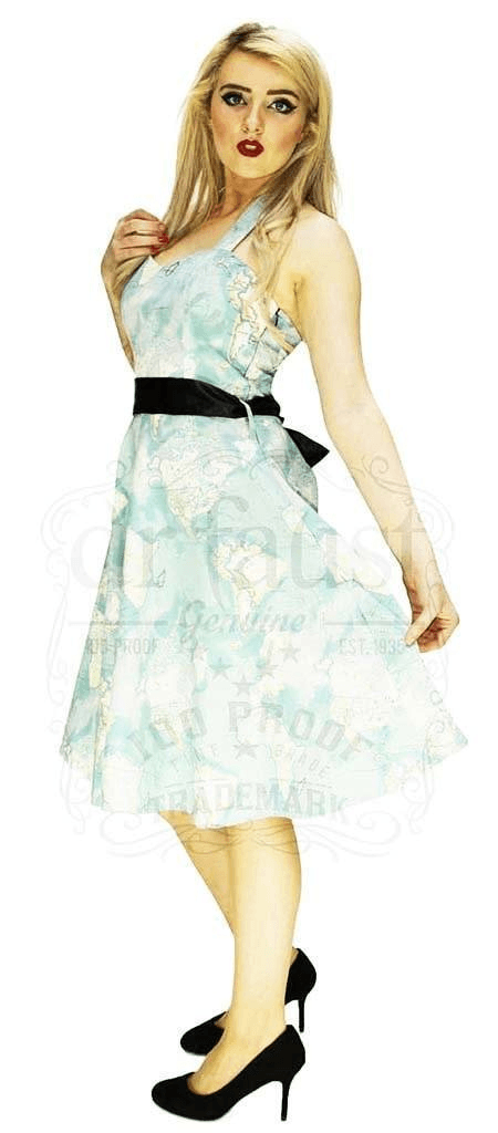 Signature Artisan Map Midi Dress - Adalyn - Dr Faust