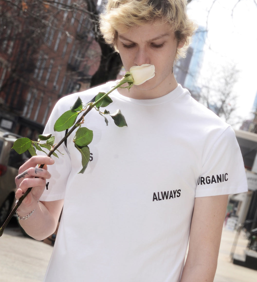Unisex White T-Shirt // 'Beauty is Organic'