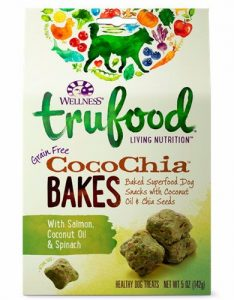 WELLNESS TRUFOOD COCOCHIA BAKES IN SALMON, COCONUT OIL AND SPINACH TREATS