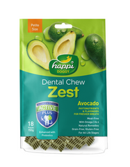 Happi Doggy Dental Chew Zest Petite Avocado 150g | Perromart Online Pet Store Malaysia