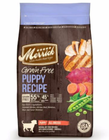 Merrick Grain Free Puppy Chicken Dry Dog Food (3sizes)