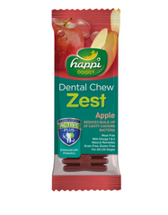 "Happi Doggy Dental Chew Zest Apple 4""- 50Pcs 
