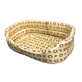 Pet Bed Circular Soft Bed in Cream