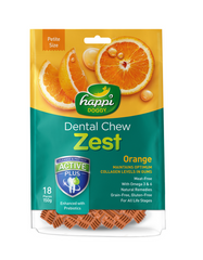 Happi Doggy Dental Chew Zest Petite Orange 150g | Perromart Online Pet Store Malaysia