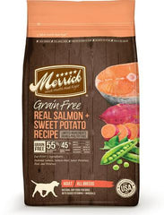 Merrick Grain Free Real Salmon & Sweet Potato Dry Dog Food (3 sizes)