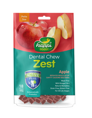 Happi Doggy Dental Chew Zest Petite Apple 150g | Perromart Online Pet Store Malaysia