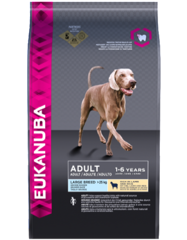 Eukanuba Natural Adult Lamb & Rice Large Breed Dry Dog Food (2 sizes)