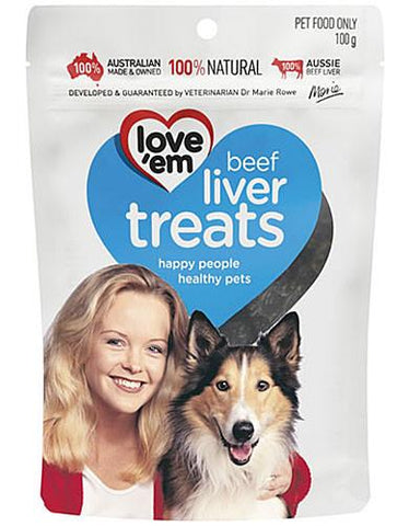 love 'em Beef Liver Treats for Dogs | Perromart Online Pet Store Malaysia
