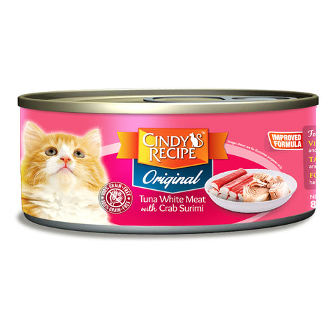 Cindy Recipe Original Tuna with Crab Surimi (4 Sizes)