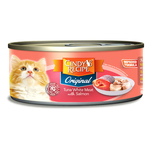Cindy Recipe Original Tuna White Meat with Salmon (4 Sizes)