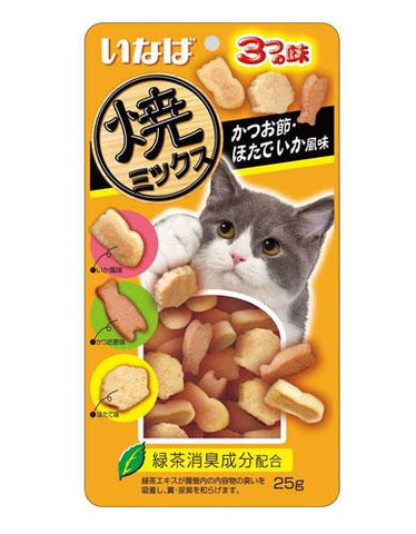Ciao Inaba Soft Bits Scallop And Squid Flavor Cat Treat | Perromart Online Pet Store Malaysia
