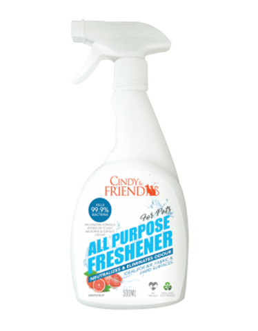 Cindy & Friends All Purpose Freshener Spray (Grapefruit) 500ml | Perromart Online Pet Store Malaysia
