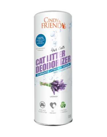 Cindy & Friends Cat Litter Deodorizer Powder (Lavender) 500ml | Perromart Online Pet Store Malaysia