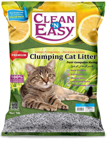 Clean n Easy Clumping Fine Lemon 10L