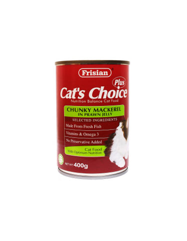 Frisian Cat's Choice Chunky Mackerel in Prawn Jelly Cat Food | Perromart MY Online Pet Store