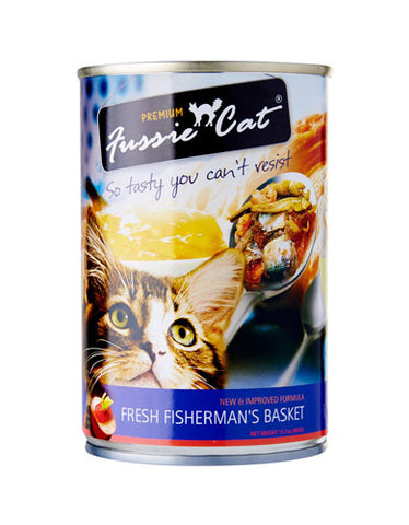 Fussie Cat Fresh Fisherman Basket Canned Cat Food ( 400g ) | Perromart Online Pet Store Malaysia