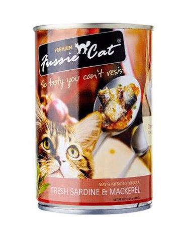 Fussie Cat Fresh Sardine & Mackerel Canned Cat Food ( 400g ) | Perromart Online Pet Store Malaysia